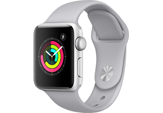 APPLE Watch Series 3 - 38mm Aluminiumboett i Silver med Dimgrått Sportband