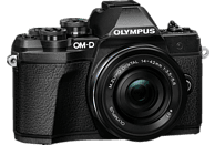 OLYMPUS OM-D E-M10 Mark III Kit Pancake Systemkamera 16.1 Megapixel mit Objektiv 14-42 mm , 7.6 cm Display   Touchscreen, WLAN