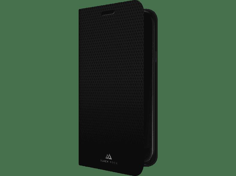 BLACK ROCK Booklet Material Pur , Bookcover, Samsung, Galaxy J3 (2017), Polyurethan, Schwarz