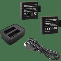 ROLLEI 21645, Externes Ladegerät, inkl. 2x Akku, Schwarz, passend für Rollei Actioncam 530 und 630