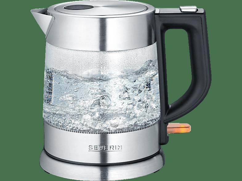 SEVERIN WK 3468 Wasserkocher, Glas/Edelstahl