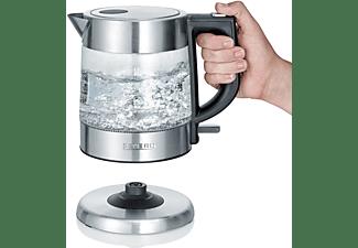 SEVERIN WK 3468 Wasserkocher, Transparent/Edelstahl gebürstet