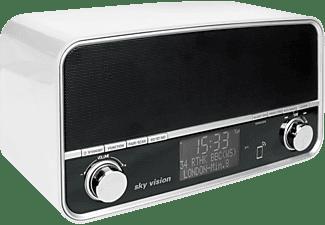 SKY VISION DAB 50 W DAB+ Radio, digital, FM, DAB+, DAB, Weiß