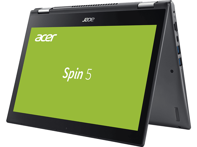 ACER Spin 5 (SP513-52N-54SF), Convertible mit 13.3 Zoll Display, Core™ i5 Prozessor, 8 GB RAM, 256 GB SSD, UHD Grafik 620, Steel Gray