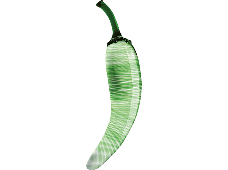 GLASSVIBRATIONS Fruit Line Green Pepper Dildo