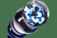 GLASSVIBRATIONS Blue Flower Dildo
