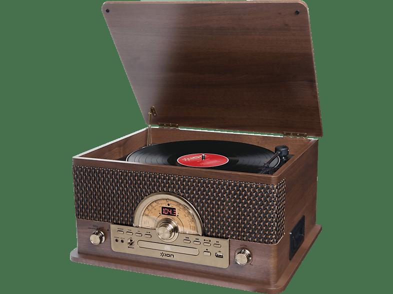 ION Superior LP Record Player Plattenspieler Plattenspieler (Dunkelbraun)