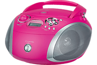 GRUNDIG GRB 2000 USB CD Radio (Pink/Silber)