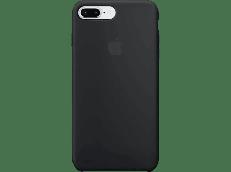 APPLE Silikon Case , Backcover, Apple, iPhone 7 Plus, iPhone 8 Plus, Silikon, Schwarz