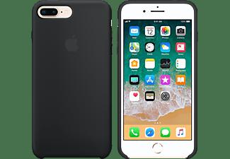 APPLE Silikon Case, Backcover, Apple, iPhone 7 Plus, iPhone 8 Plus, Schwarz