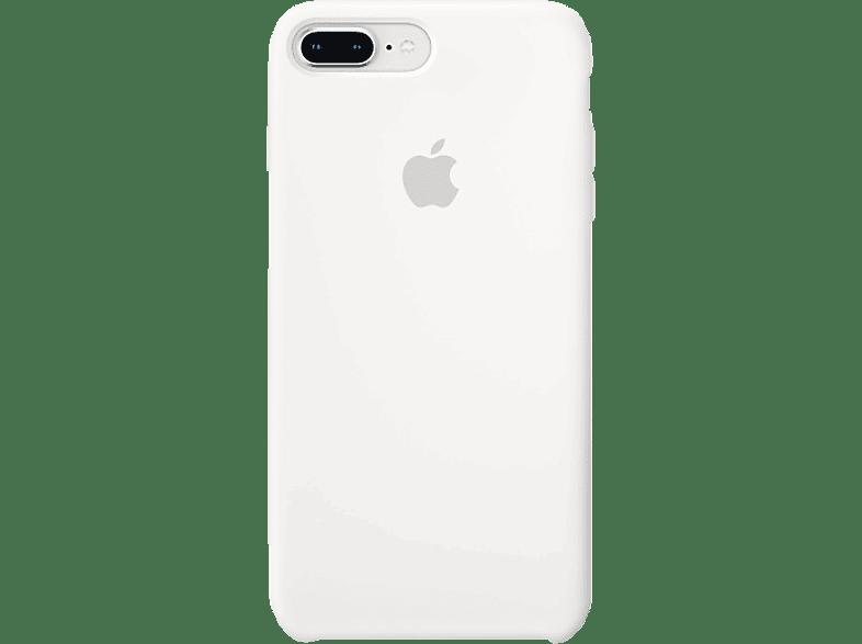 APPLE Silikon Case , Backcover, Apple, iPhone 7 Plus, iPhone 8 Plus, Silikon, Weiß