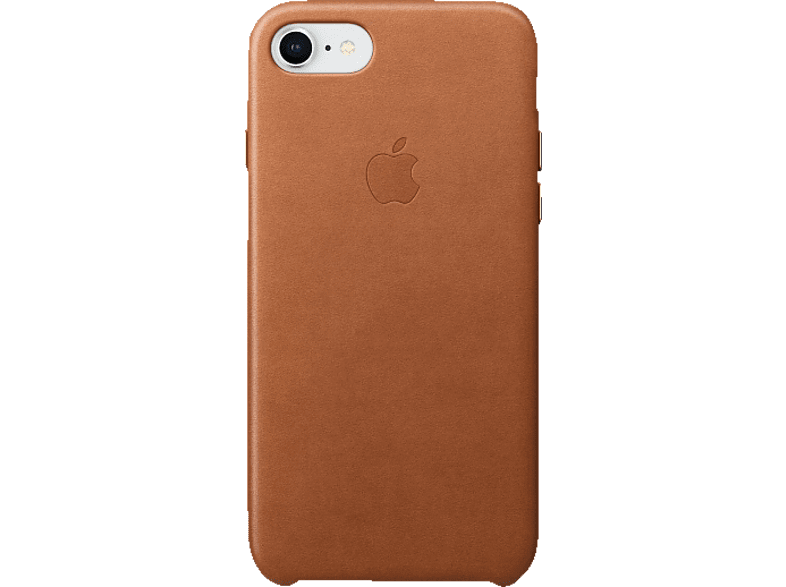 APPLE Leder Case , Backcover, Apple, iPhone 8, iPhone 7, Leder, Sattelbraun