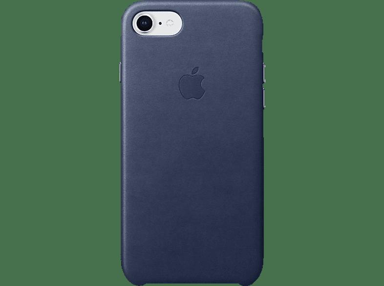 APPLE Leder Case , Backcover, Apple, iPhone 8, iPhone 7, Leder, Mitternachtsblau