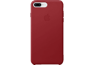 APPLE Leder Case, Backcover, Apple, iPhone 7 Plus, iPhone 8 Plus, Rot