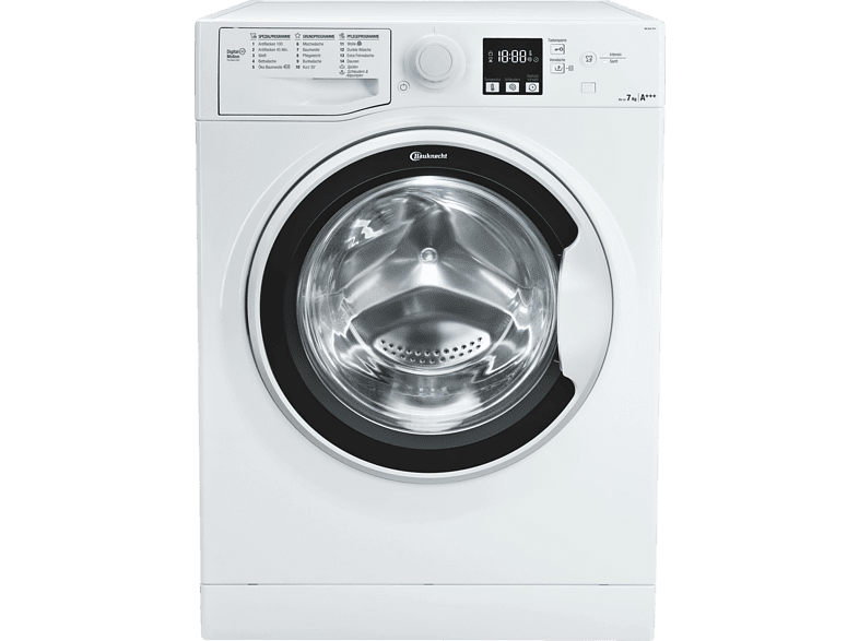 BAUKNECHT WA SOFT 7F41  Waschmaschine (7 kg, 1400 U/Min., A+++)