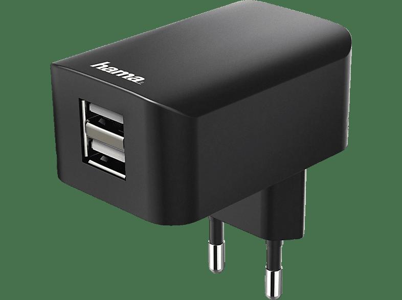 HAMA 2-fach USB Ladegerät, Schwarz