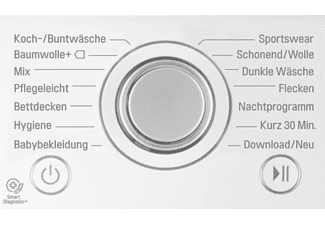 LG F 14 WM 8CN1 Waschmaschine (8 kg, 1400 U/Min.)