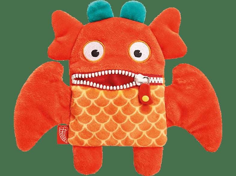 SCHMIDT SPIELE (UE) Sorgenfresser Plüschmagnet - Oki Plüschfigur, Orange