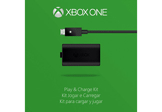 MICROSOFT Xbox One Play & Charge Kit Ladegerät, Schwarz