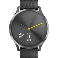 GARMIN vívomove HR Sport, Fitnesstracker, L, Schwarz