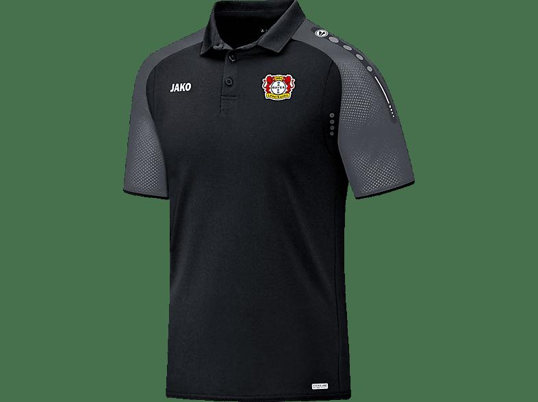 JAKO Bayer 04 Leverkusen Poloshirt, Schwarz/Grau