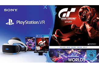 SONY PlayStation VR + Camera + VR Worlds (Download Code) + GT Sport (Download Code), Virtual Reality Brille