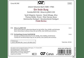 Kammerchor Stuttgart, Barockorchester Stuttgart, VARIOUS - Ein feste Burg BWV 80/Missa in g BWV 235  - (CD)