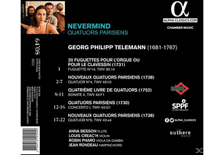 Nevermind - Quatuors Parisiens  - (CD)