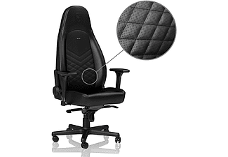 NOBLECHAIRS ICON Faux Leather Gamingstol (svart)