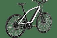 CYCLE ELECTRIC MILOS (one size) Urbanbike (Aluminiumrahmen mit geschwungenem Oberrohr, 403 Wh, Weiß/Schwarz)