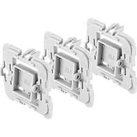 BOSCH 8750000410 Adapter 3er-Set Busch-Jäger (BJ), Weiß