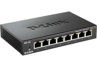 DLINK DGS-108/E - commutatore (Nero)