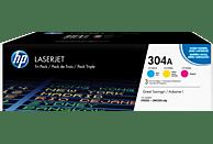 HP 304A Toner Cyan/Magenta/Gelb (CF372AM)