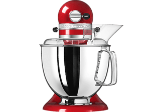 KITCHENAID 5KSM175PSEER Artisan Küchenmaschine Empire Rot (Rührschüsselkapazität: 4,8 Liter, 300 Watt)
