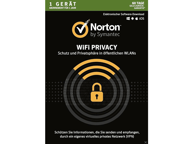 Norton Wifi Privacy 1U/1 DEV/1 Jahr (Online)