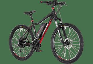 FISCHER - FAHRRAD EM 1608-S1 Mountainbike (27,5 Zoll, Rahmenhöhe: 27,5 Zoll, Unisex-Rad, 418 Wh, Schwarz matt)
