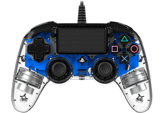 NACON Manette filaire Compacte Lumineuse PS4 Bleu (PS4OFCPADCLBLUE)