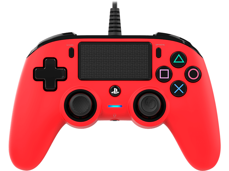 NACON Compact Controller bedraad PS4 Rood (PS4OFCPADRED)
