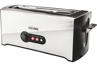 KOENIC KTO 4331 M Toaster Silber/Schwarz (1600 Watt, Schlitze: 2)