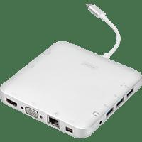 DIGITUS Universal, USB Typ-C, USB 3.1, HDMI, MiniDP, VGA, RJ45, Dockingstation