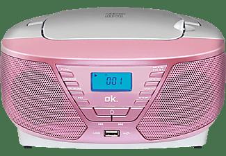 Radio CD - OK ORC 311-PK, Grabadora, MP3, Rosa