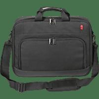 ISY INB-1002 Notebooktasche Umhängetasche für Universal 95% Polyester / 5% Polyurethan, Schwarz