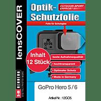 S+M LensCover, Schutzfolie, Transparent, passend für GoPro Hero 5, Hero 6