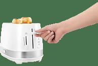 DELONGHI CTLA 2103.W Toaster Weiß (900 Watt, Schlitze: 2)