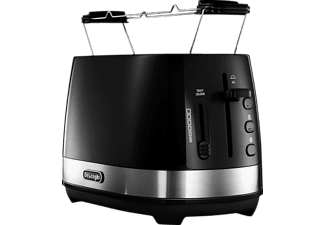 DELONGHI CTLA 2103.BK Toaster Schwarz (900 Watt, Schlitze: 2)