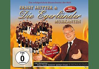 Die Egerländer Musikanten, Ernst & Die Hutter - Das Feuer brennt weiter-Delu  - (CD + DVD Video)