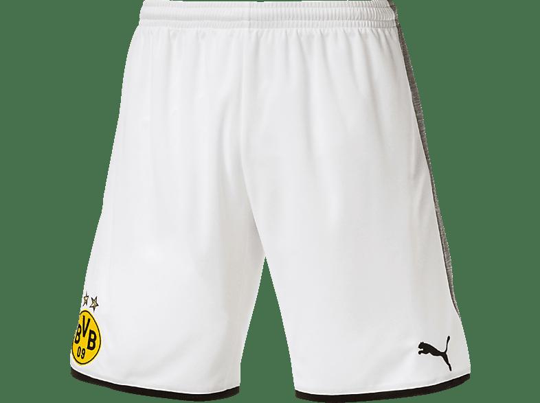 PUMA Borussia Dortmund Short, Weiß/Grau