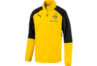 PUMA Borussia Dortmund Regenjacke, Schwarz/Gelb