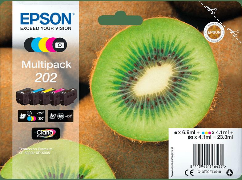 EPSON Original Multipack 5-farbig Tintenpatrone Kiwi Mehrfarbig (C13T02E74010)