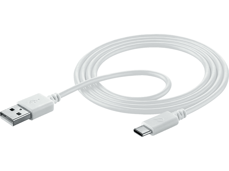 CELLULAR LINE 38940, Daten- Ladekabel, 1 m, Weiß